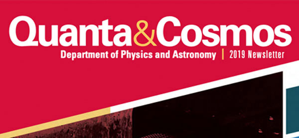 Quanta & Cosmos 2019 Newsletter cover